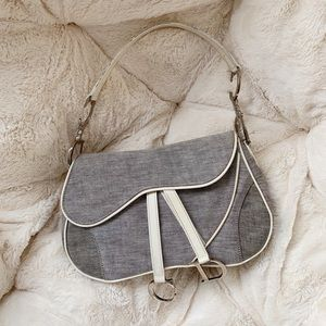 SALE authentic christian dior double saddle bag